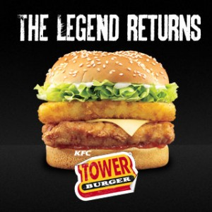Flash Actu : KFC relance la légende, le Tower Burger !